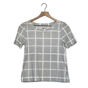 (2/$15) Uniqlo MoMA Black Line Art Square T Shirt